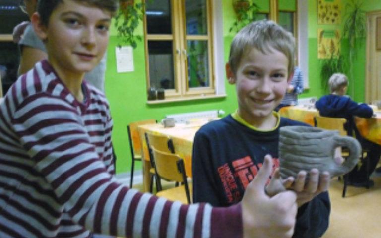 Warsztaty ceramiczne w Zielonej Szkole